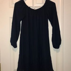 Nwot navy blue off the shoulder mini dress